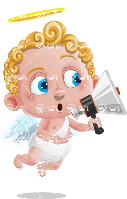 Cupid Cartoon Character - Loudspeaker