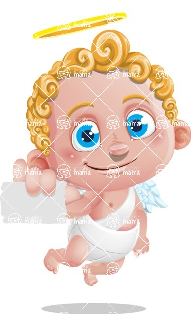 Cupid Cartoon Character - Sign 1