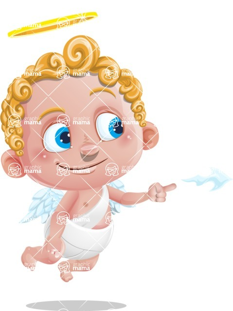 Cupid Cartoon Character - Point 1