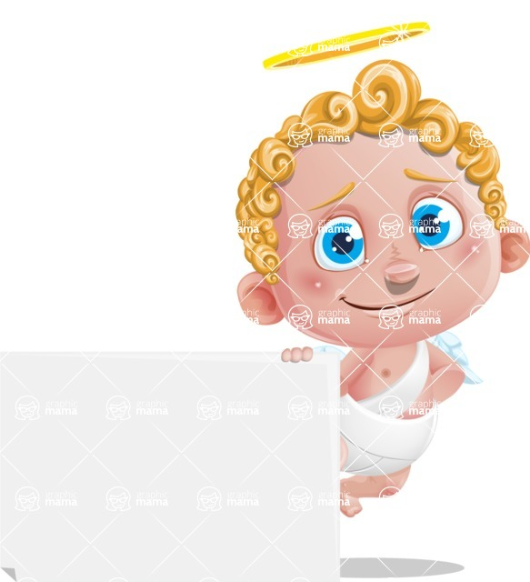 Cupid Cartoon Character - Sign 6