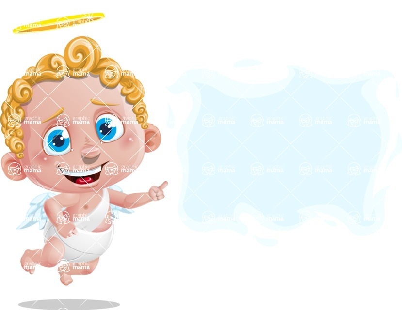 Cupid Cartoon Character - Sign 8