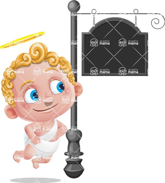 Cupid Cartoon Character - Street Sign