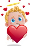Cupid Cartoon Character - Cartoon Cupid Showing Love