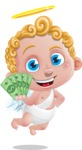 Cupid Cartoon Character - Cartoon Cupid with Money