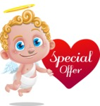 Cupid Cartoon Character - Cartoon Cupid with Special Offer