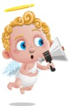 Cupid Cartoon Character - Loudspeaker