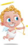 Cupid Cartoon Character - Cartoon Cupid with Bow and Arrow