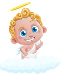 Cupid Cartoon Character - Cartoon Cupid on a Cloud