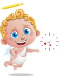 Cupid Cartoon Character - Cartoon Cupid with Clock