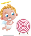 Cupid Cartoon Character - Cartoon Cupid with Target