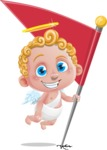 Cupid Cartoon Character - Cartoon Cupid on a Checkpoint