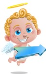 Cupid Cartoon Character - Cartoon Cupid with Arrow 1