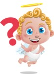 Cupid Cartoon Character - Cartoon Cupid Asking Question