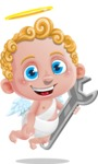 Cupid Cartoon Character - Repairing Cupid Cartoon