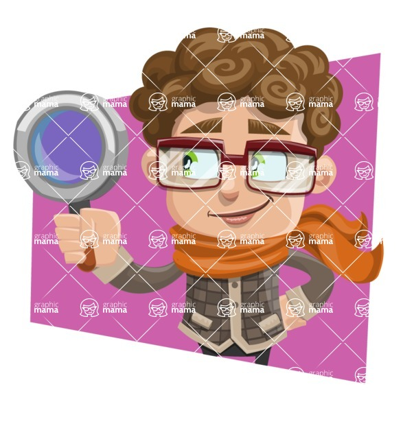 Boy With Curly Hair Cartoon Vector Character Shape3 Graphicmama