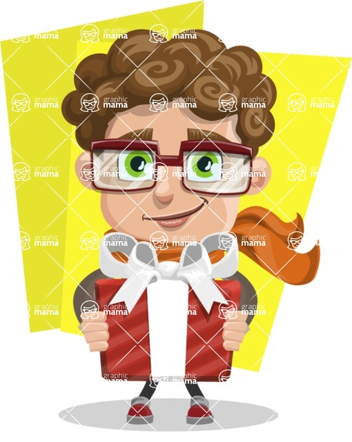 Boy With Curly Hair Cartoon Vector Character Shape11 Graphicmama
