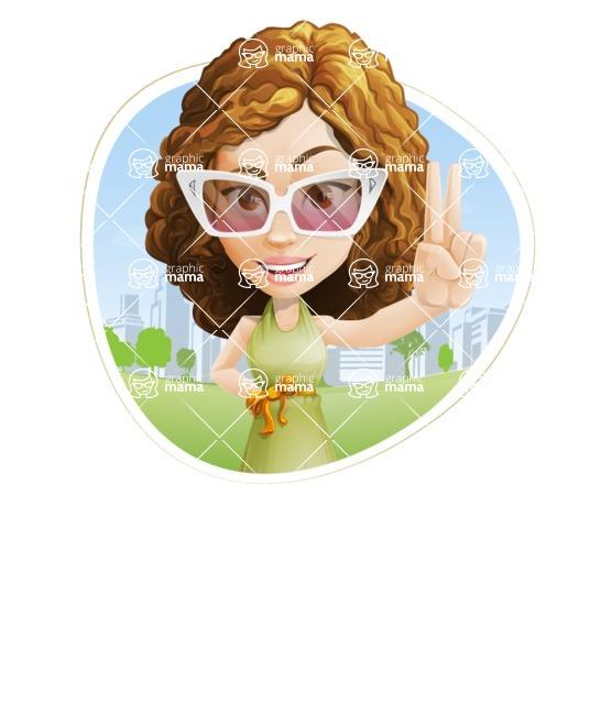 Vector Sweet Lady Cartoon Character - Shape 3