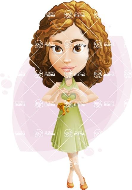 Vector Sweet Lady Cartoon Character - Shape 8
