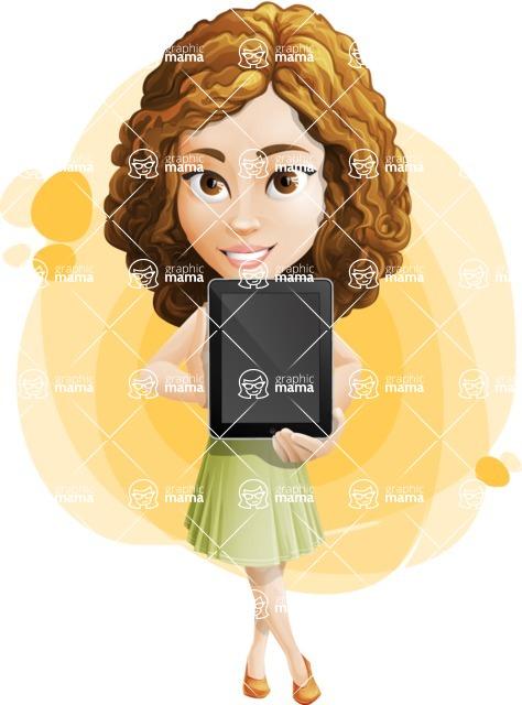 Vector Sweet Lady Cartoon Character - Shape 9