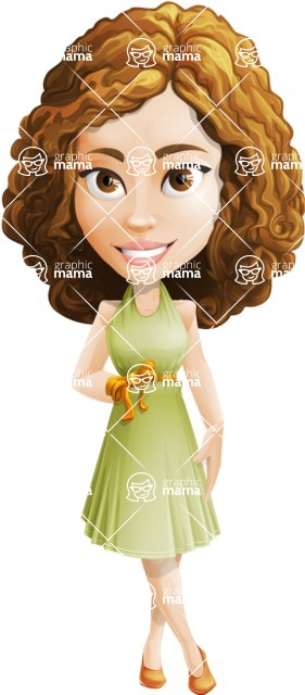 Vector Sweet Lady Cartoon Character - Patient