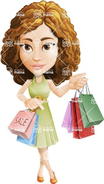 Vector Sweet Lady Cartoon Character - Sale 1