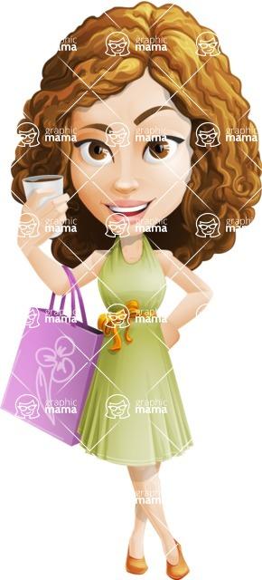 Vector Sweet Lady Cartoon Character - Sale 2