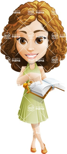 Vector Sweet Lady Cartoon Character - Book 2