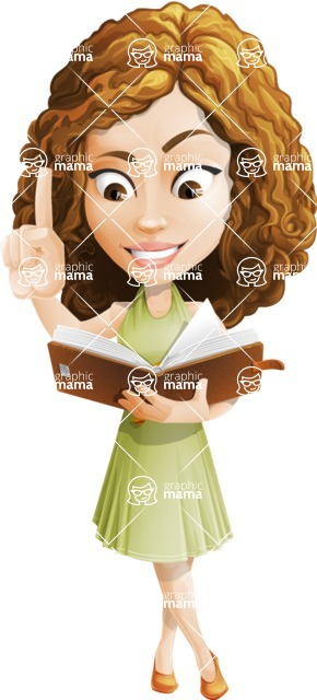 Vector Sweet Lady Cartoon Character - Book 3