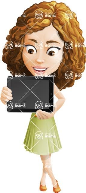 Vector Sweet Lady Cartoon Character - iPad 3