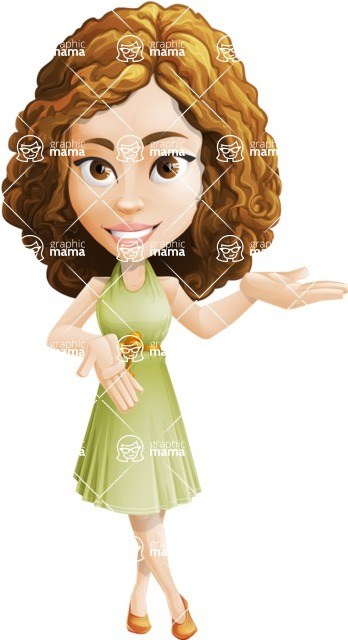 Vector Sweet Lady Cartoon Character - Showcase 2