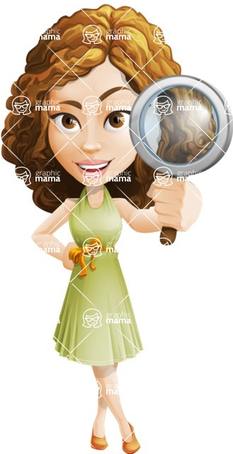 Vector Sweet Lady Cartoon Character - Search