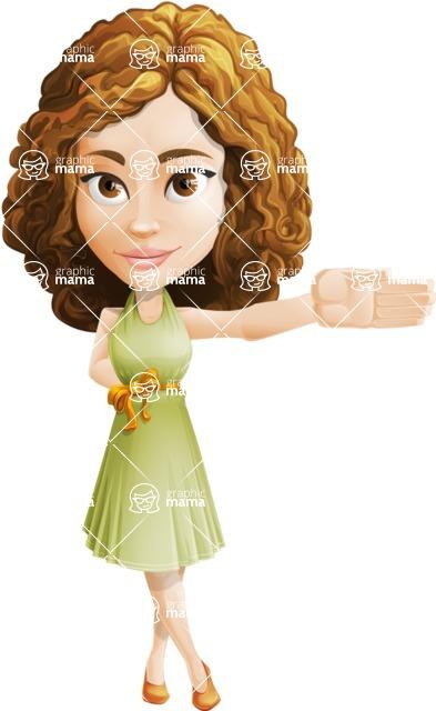 Vector Sweet Lady Cartoon Character - Show 1