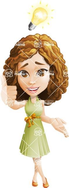 Vector Sweet Lady Cartoon Character - Idea 1
