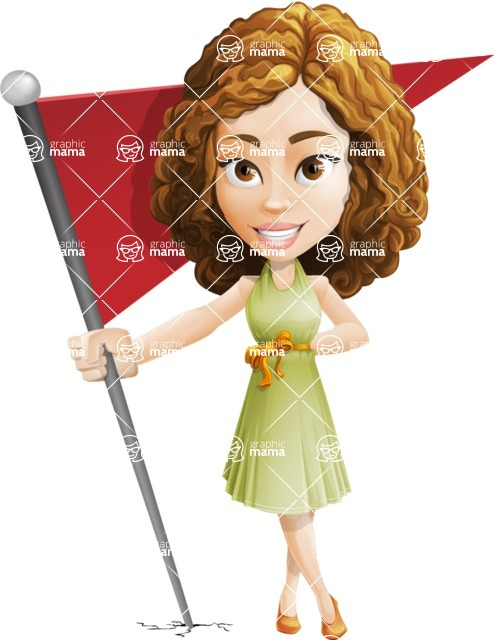 Vector Sweet Lady Cartoon Character - Checkpoint