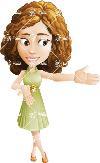 Vector Sweet Lady Cartoon Character - Show 2