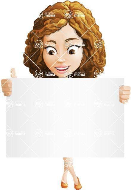 Vector Sweet Lady Cartoon Character - Sign 6