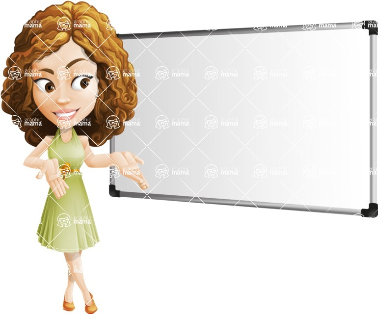 Vector Sweet Lady Cartoon Character - Presentation 3