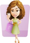 Vector Sweet Lady Cartoon Character - Shape 6
