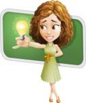 Vector Sweet Lady Cartoon Character - Shape 10