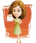 Vector Sweet Lady Cartoon Character - Shape 11