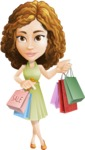 Vector Sweet Lady Cartoon Character - Sale 1