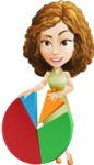 Vector Sweet Lady Cartoon Character - Chart