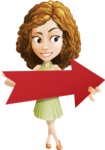 Vector Sweet Lady Cartoon Character - Pointer 2