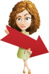 Vector Sweet Lady Cartoon Character - Pointer 3