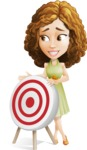 Vector Sweet Lady Cartoon Character - Target