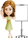 Vector Sweet Lady Cartoon Character - Presentation 1