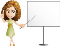 Vector Sweet Lady Cartoon Character - Presentation 2