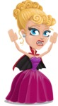 Vampire Girl Cartoon Vector Character - Being Scared