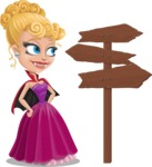 Vampire Girl Cartoon Vector Character - Choosing a Way