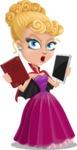 Vampire Girl Cartoon Vector Character - Choosing Between Modern and Oldschool